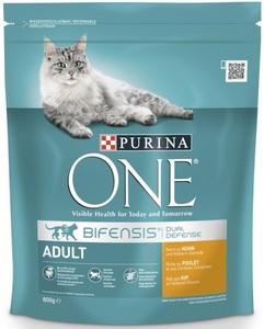 Purina One Cat Bifensis Adult reich an Huhn & Vollkorngetreide 0,8 kg