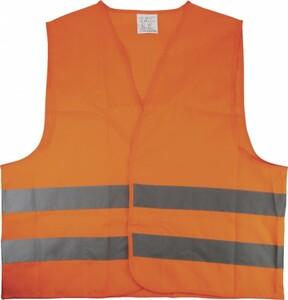 Cartrend Warnweste orange Größe L ,  für Erwachsene, EN 20471, orange