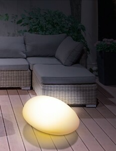 EASYmaxx Solar-Leuchte Stein flach ,  4 LED