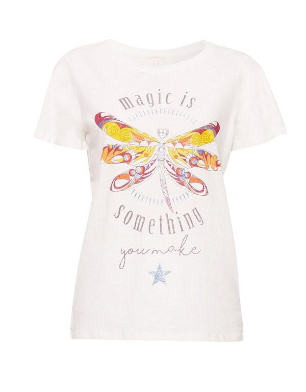 Esprit - T-shirt mit buntem Print