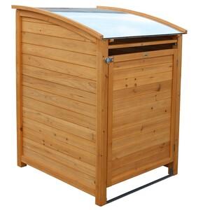 Habau Mülltonnenbox Plus 120 Liter 65 x 75 x 114 cm mit Zinkdach