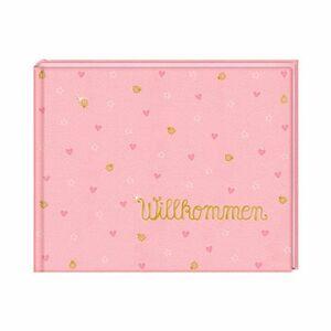 Babyalbum Willkommen BabyGlück rosa