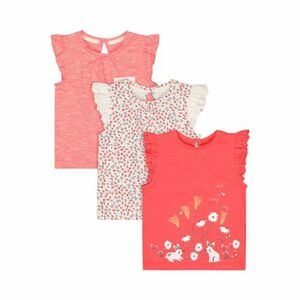 3er-Pack T-Shirts Flügelarm Hase Blumen