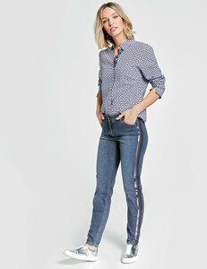 Jeans mit Galonstreifen Best4me Skinny