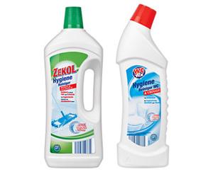 WC fix/ZEKOL Hygiene Reiniger WC & Urinale, 1 l oder Boden & Allzweck, 1,5 l