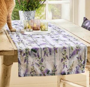 Home Tischläufer mit Lavendelmuster, ca. 40x140cm