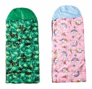 Home Kinder-Schlafsack im praktischen Tragebeutel, ca. 170/140x70