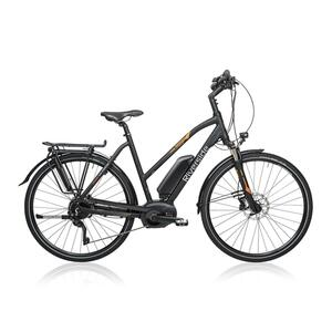 E-Bike 28 Trekkingrad Riverside 700 Damen Performance CX 500Wh anthrazit/orange