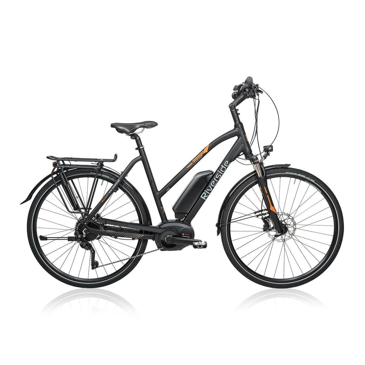 Bild 1 von E-Bike 28 Trekkingrad Riverside 700 Damen Performance CX 500Wh anthrazit/orange