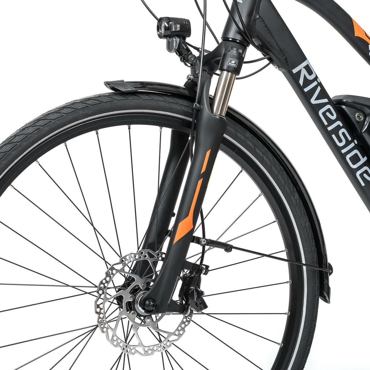 Bild 5 von E-Bike 28 Trekkingrad Riverside 700 Damen Performance CX 500Wh anthrazit/orange