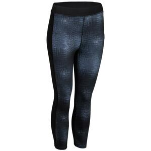 7/8 Leggings FLE 120 Fitness Cardio Damen grau mit Print