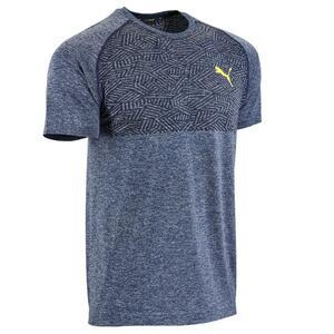 T-Shirt Seamless Fitness Cardio Herren blau