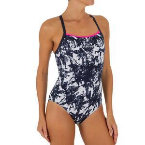 Badeanzug Jade Walo chlorresistent Damen schwarz/weiß