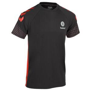Handballtrikot Herren grau/rot