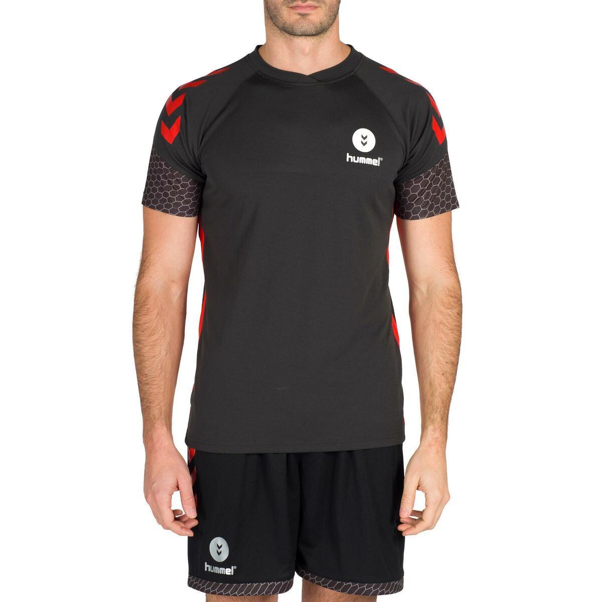 Bild 2 von Handballtrikot Herren grau/rot