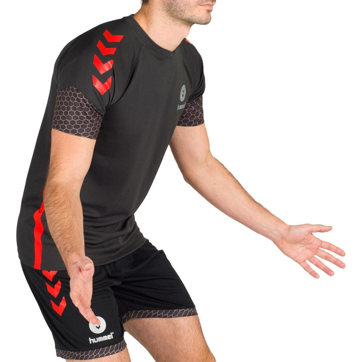 Bild 3 von Handballtrikot Herren grau/rot