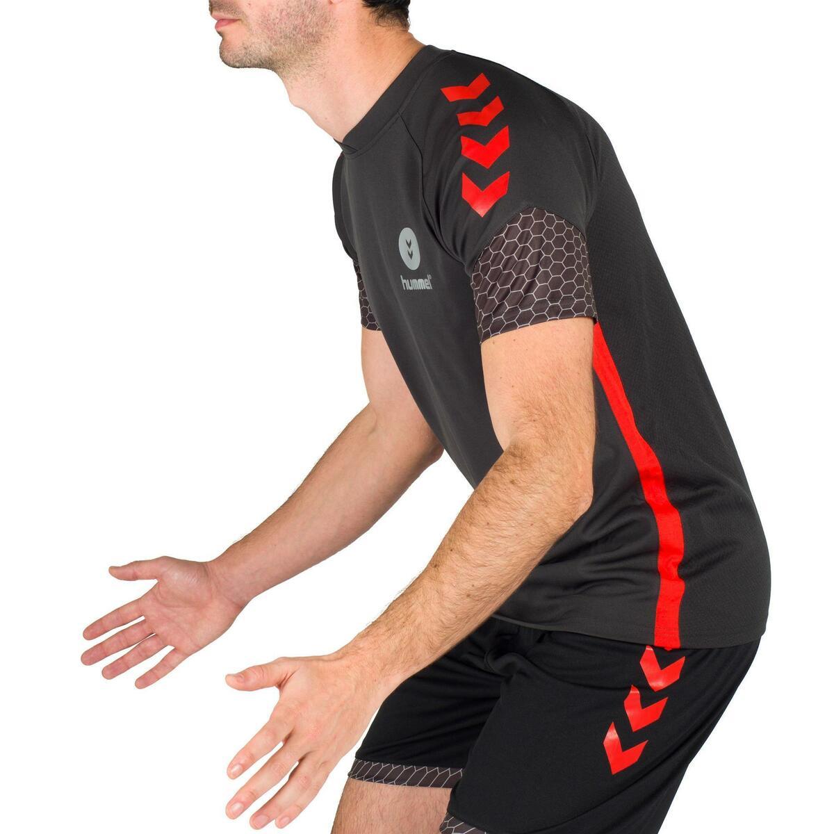 Bild 5 von Handballtrikot Herren grau/rot