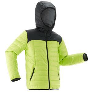 Wattierte Jacke MH 500 Kinder schwarz/grün