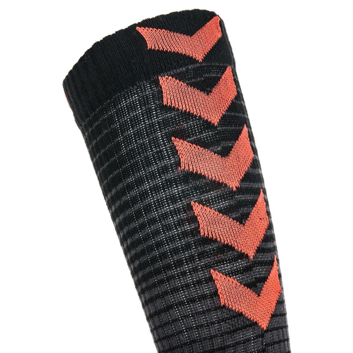 Bild 5 von Handballsocken Mid Erwachsene schwarz/rot
