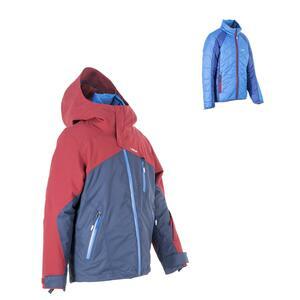 Skijacke All Mountain Kinder 990 blau bordeaux