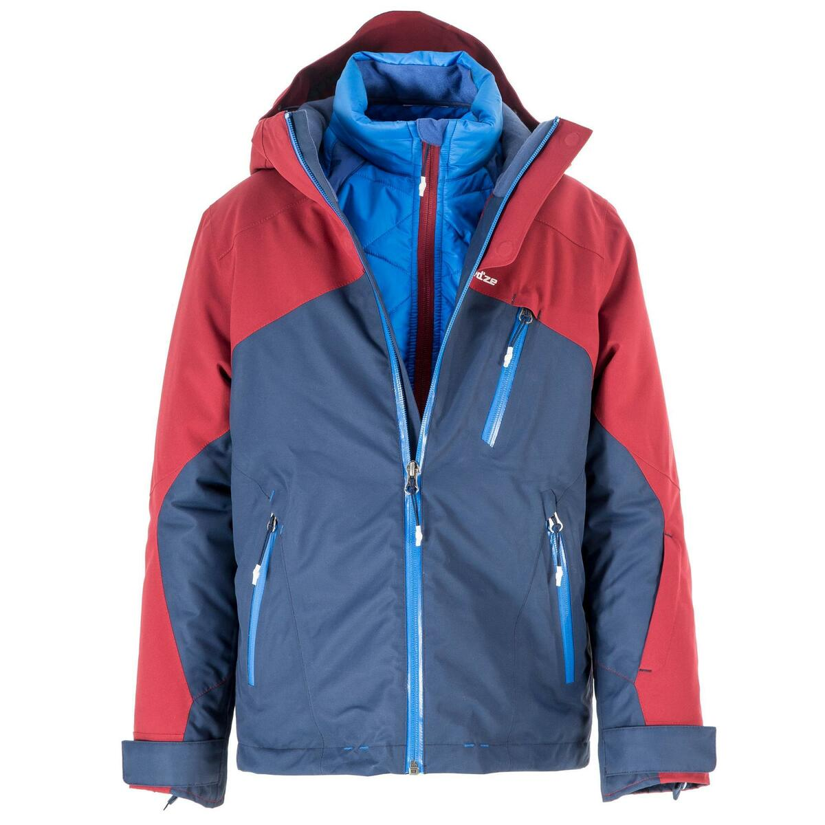 Bild 3 von Skijacke All Mountain Kinder 990 blau bordeaux