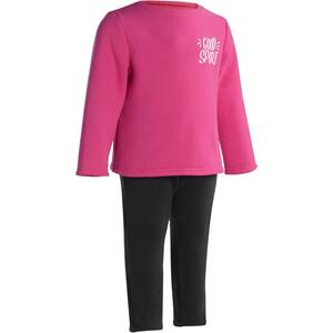 Jogginganzug 100 Warm´y Babyturnen rosa bedruckt