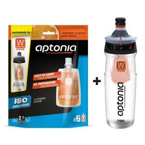Aktion Doppelbehälter 700 ml + Einzelportionen Iso-Getränk Orange 6 x 43 ml
