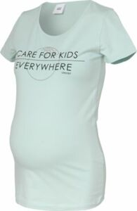 MLUNICEF S/S ORGANIC TOP A. - Umstandsshirts - weiblich hellblau Gr. 42 Damen Kinder