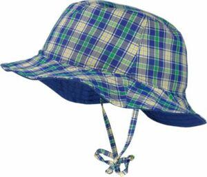 Wende-Hut zum Binden blau Gr. 49 Jungen Kleinkinder