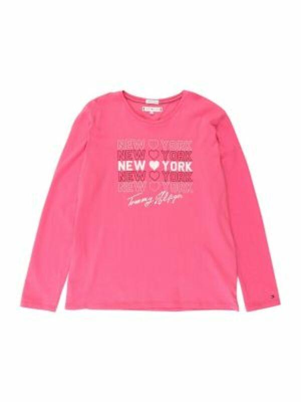 TOMMY HILFIGER Shirt Langarmshirts weiß Gr. 164 Mädchen Kinder