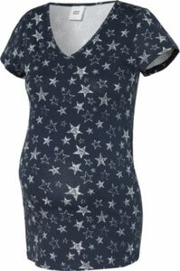 MLGUDRUN S/S JERSEY TOP - Umstandsshirts - weiblich schwarz/weiß Gr. 36 Damen Kinder