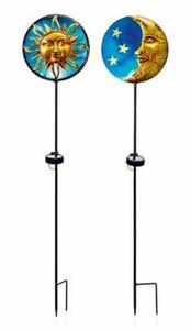 "Solar Gartenstecker ""Sonne & Mond"", 2er-Set"