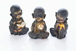 "Solarfiguren ""Mönche"", 3er-Set"