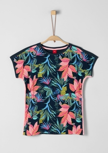 Flammgarnshirt mit Tropical-Print