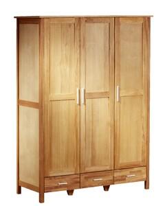 Kleiderschrank New Oak (3-türig, Eiche, geölt)