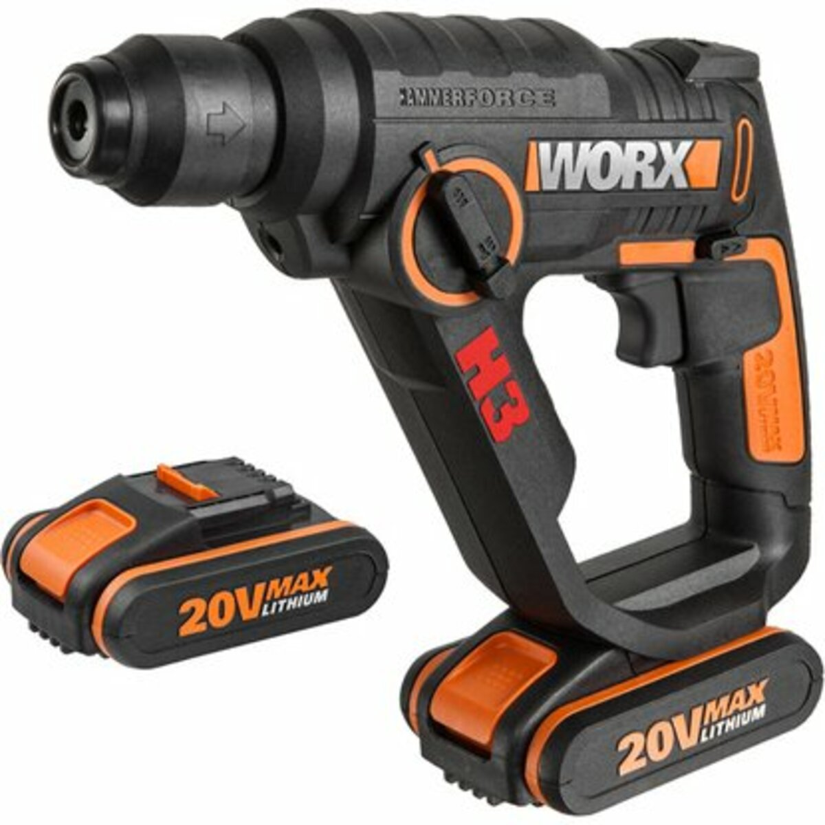 Bild 1 von Worx Akku-Bohrhammer 3-in-1 20 V WX390.1