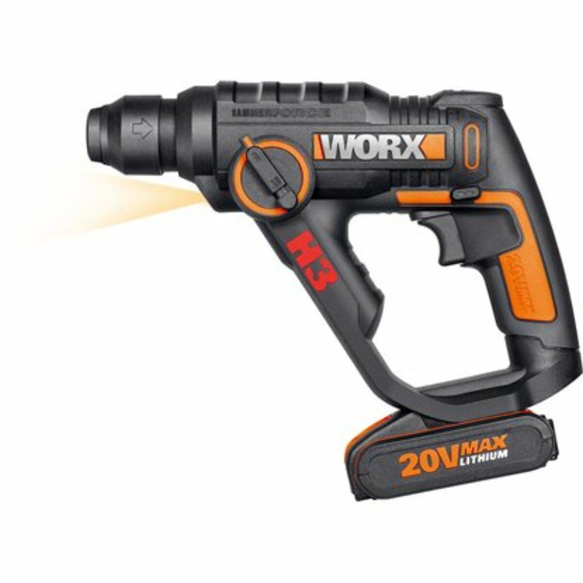 Bild 2 von Worx Akku-Bohrhammer 3-in-1 20 V WX390.1