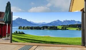 Westerholt Seitenmarkise mit Fotodruck Berge 1,6x3m, links