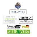 Bild 2 von Dreamtex Mako Jersey Bettwäsche mit Aloe Vera 155 x 220 cm - Squares Pistazie