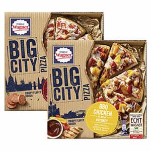 Original Wagner Big City Pizza Sydney gefroren, jede 425-g-Packung und weitere Sorten