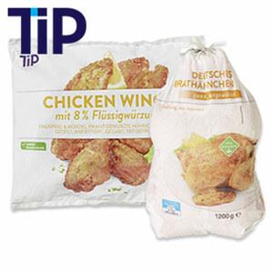 Chicken Wings knusprig u. würzig, gefroren, jeder 750-g-Beutel und weitere Sorten