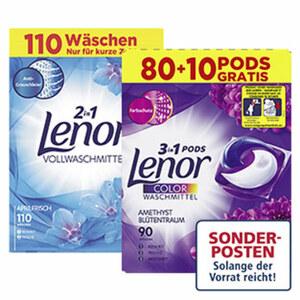 Lenor Waschmittel 100+10/80+10 Waschladungen, jede Packung