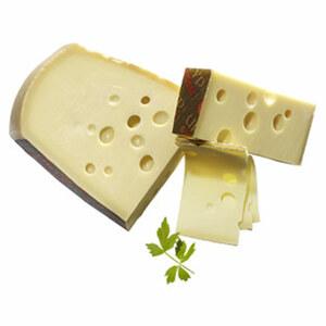 Emmentaler Urtyp Schweizer Hartkäse mit Rohmilch hergestellt, mind. 45 % Fett i. Tr., je 100 g