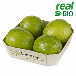 Kolumbien Limetten Kennzeichnung siehe Etikett, jede 4er-Graspapierschale