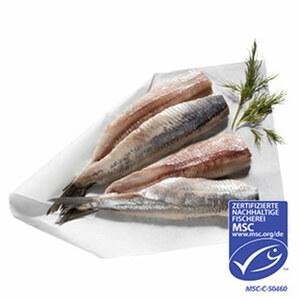 Matjes frisch filetiert MSC-Zertifizierte nachhaltige Fischerei, neufang, je Stück