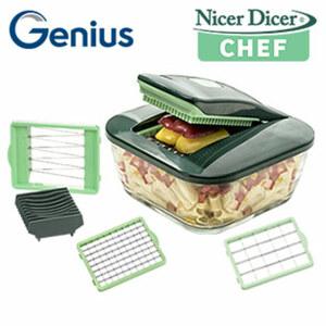 Nicer Dicer Chef - 9-teilig - XXL-Schneidfläche - Extra-scharfe Edelstahl-Klingen