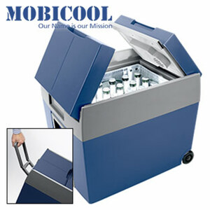 Thermoelektrische Kühlbox 12/230V Inhalt: ca. 48 Liter, Kühlung bis 16 °C unter Aussentemperatur, Platz für einen kompletten Getränkekasten ( Größe: ca. 30x40x32 cm ), 12-V-Autoanschluss & 230