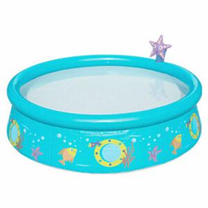 Baby Fast-Set-Pool mit Sprayer Poolfolie aus robustem TriTech-Material, Wasserkapazität zu 80 % gefüllt: 477 Liter