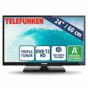 """24""""-LED-HD-TV L24H502N4V • Auflösung 1.366 x 768 Pixel • 2 HDMI-Anschlüsse, USB-/Scart-Anschluss, CI+, inkl. 12-Volt-Adapter • Stand-by: 0,5 Watt, Betrieb: 19 Watt • Maße: H 33,7 x B 55,4"""