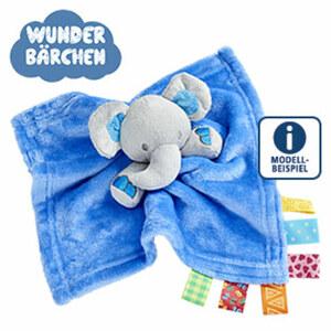 Baby-Schnuffeltuch Flanell-Fleece, mit Taggies